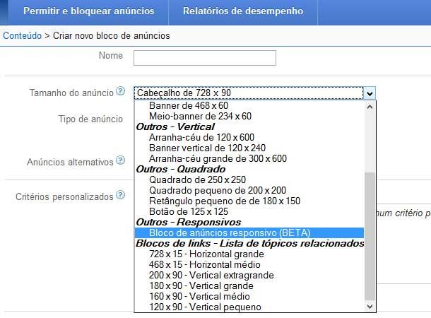 Banner Responsivo - Google Adsense