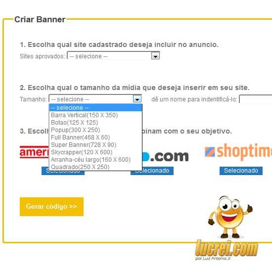 Afiliados.com.br - Cadastrar Banner