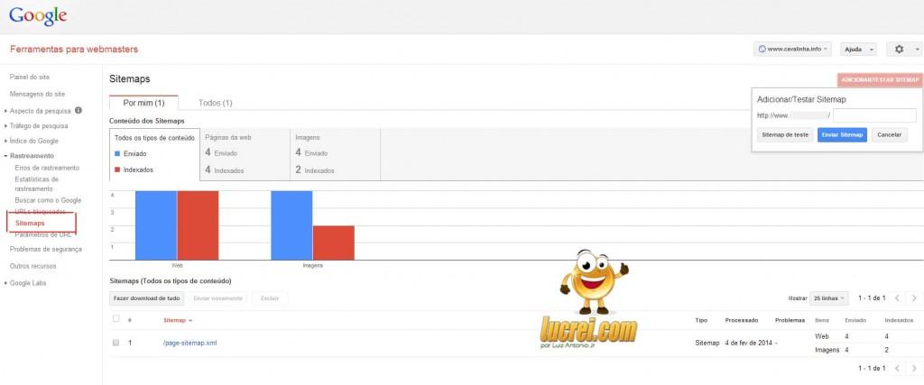 indexação google XML