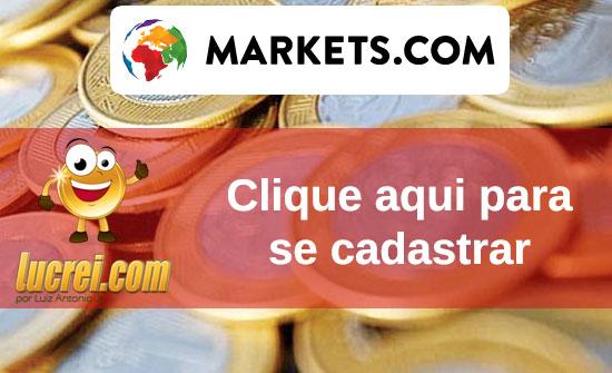 Cadastro no markets.com - FOREX