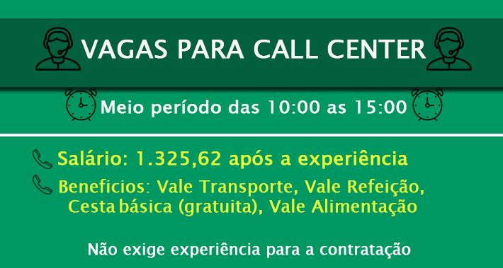 VAGA ATENDENTE CALL CENTER